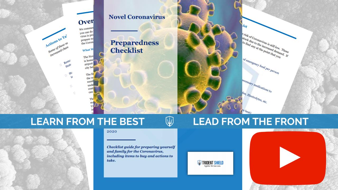 YouTube Thumbnail - Coronavirus Preparedness Checklist